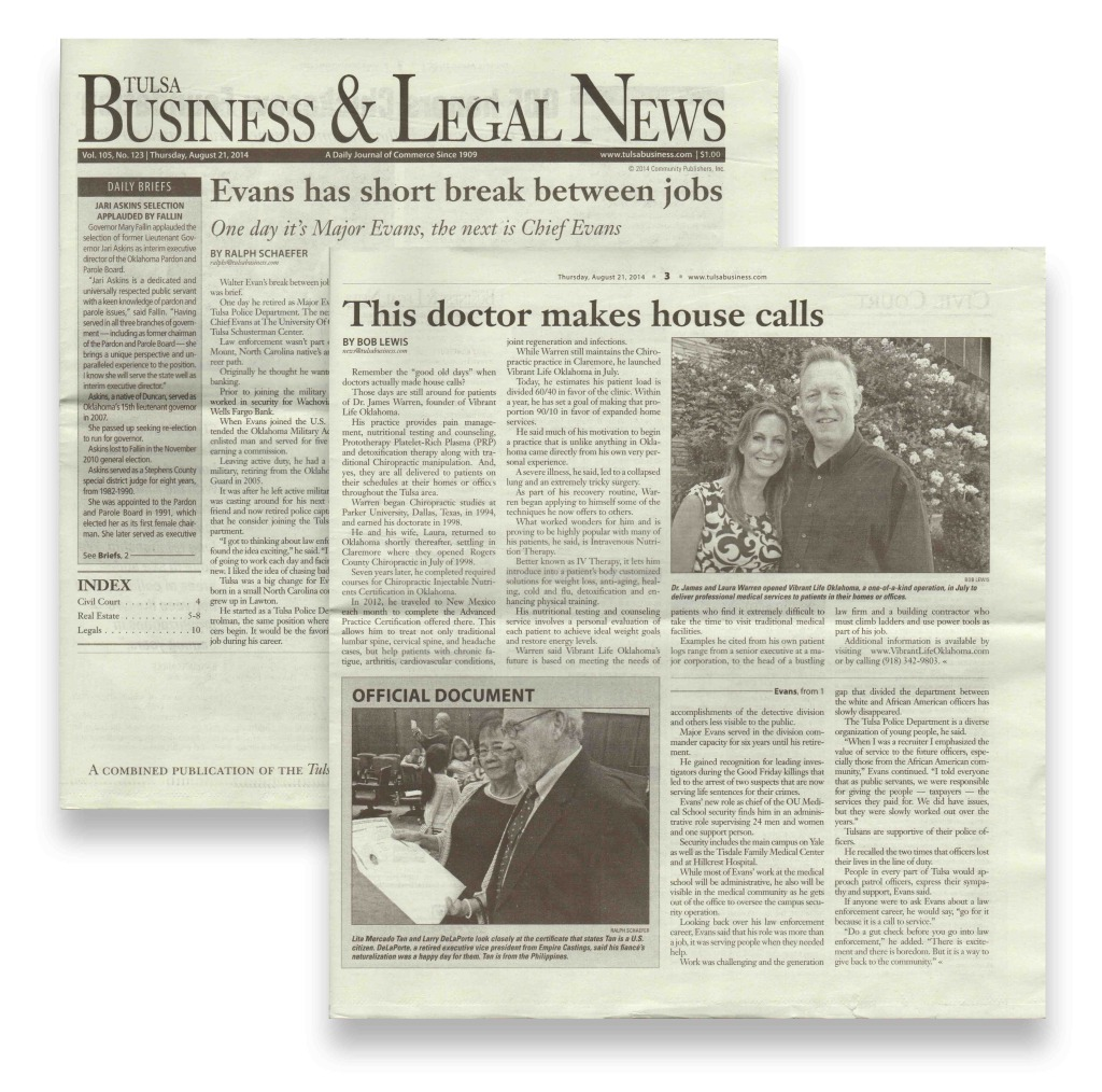 Vibrant Life Oklahoma Featured in Tulsa Business & Legal News